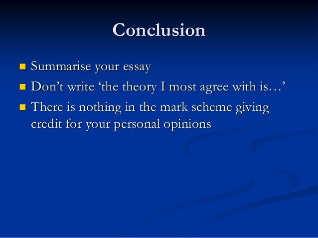 writing a sociology essay conclusion  summarise your essay