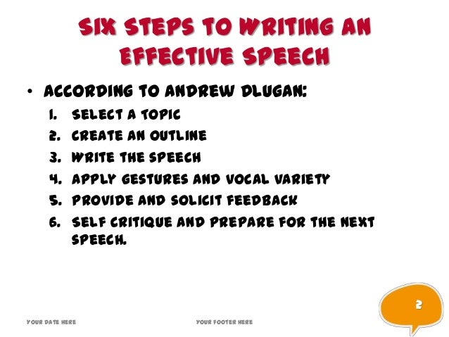 how to write speech writing and presentation