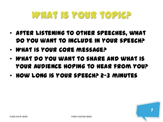 Writing A Speech