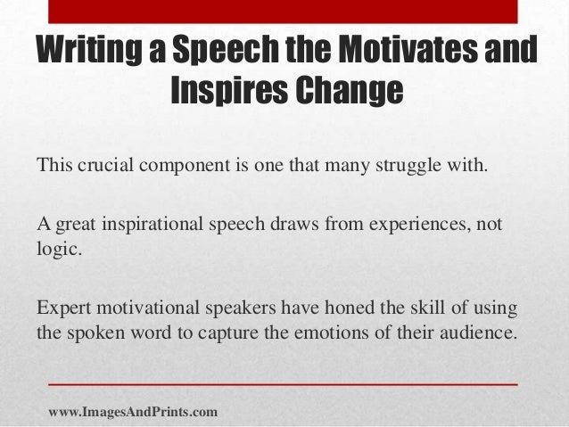 how to write a speech about someone who inspires you