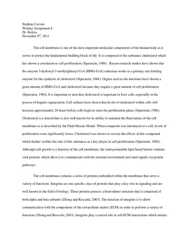 writing assignment molecular cell biology