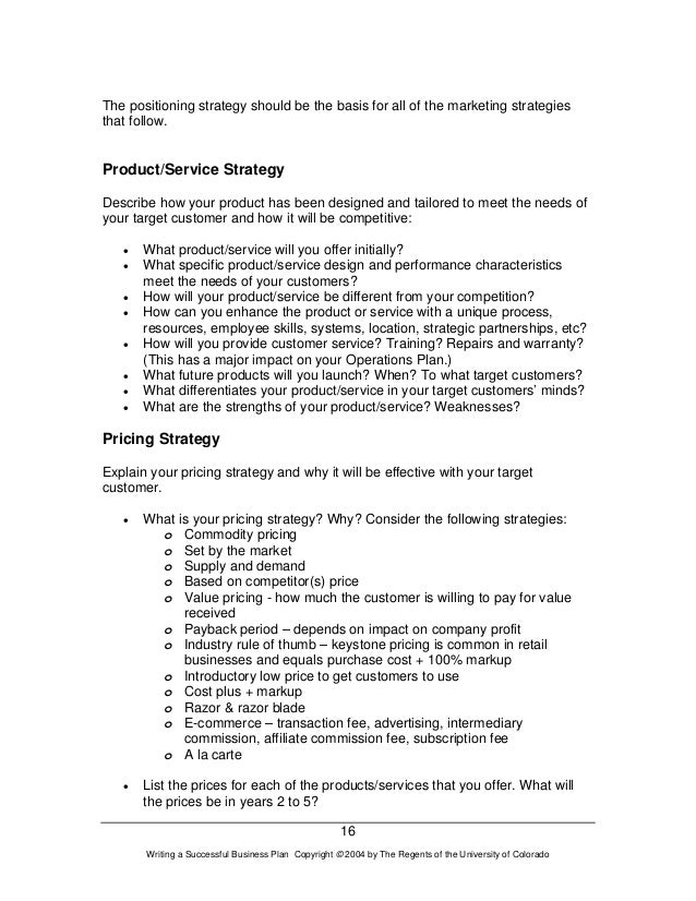 how much to charge for business plan writing