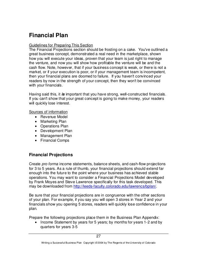 Amazing Financial Plan Guidelines ...