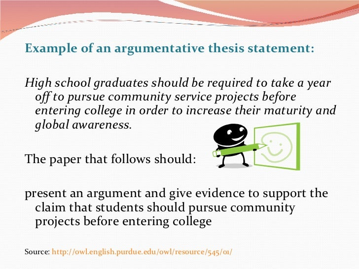 a thesis statement examples
