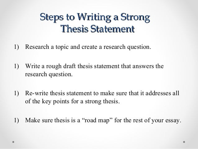 Help with writing a thesis statement simple