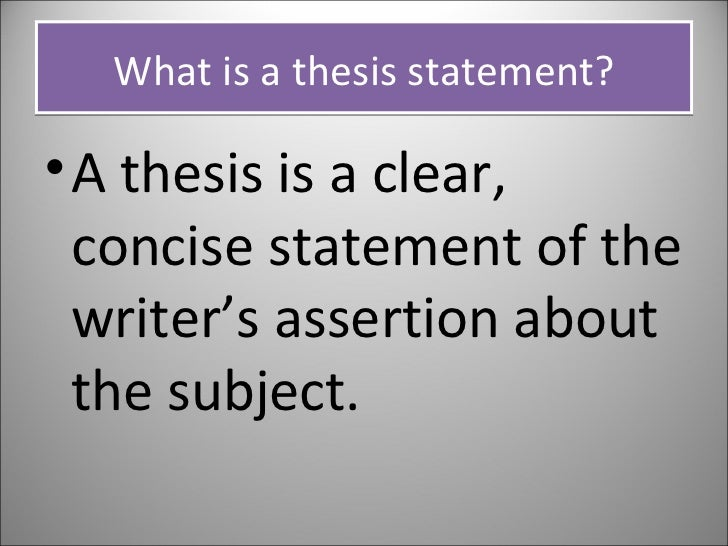 concise thesis statement Before you begin writing, you'll want to follow these tips for developing a good thesis statement: concise concept that explains both how and why.