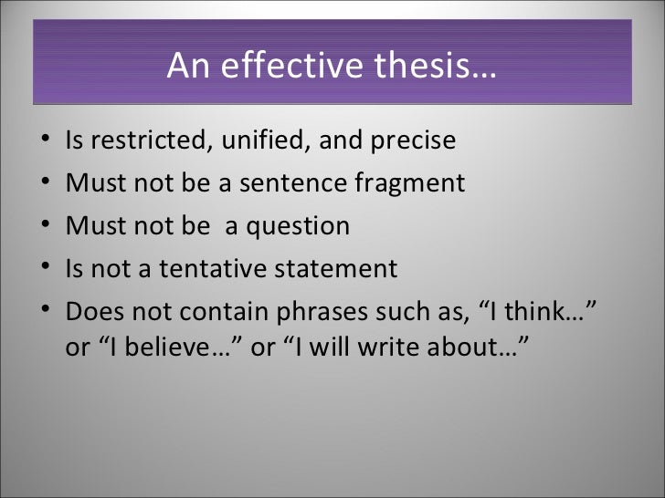 tenative thesis Example sentences with the word tentative tentative example sentences   tentative essays in criticism and dissertations on the art of poetry abounded.