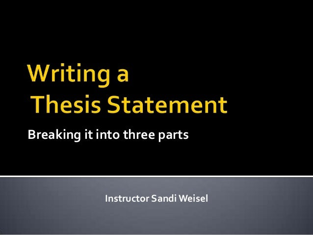 Steps in writing a thesis paper