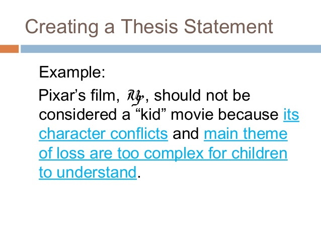 University thesis statement
