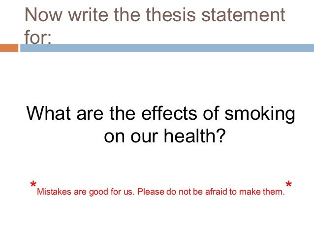 write a thesis statement