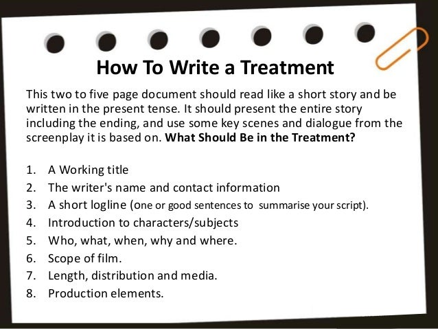 How to Write a Documentary Treatment