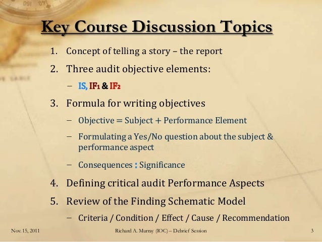 The Effective Audit Report