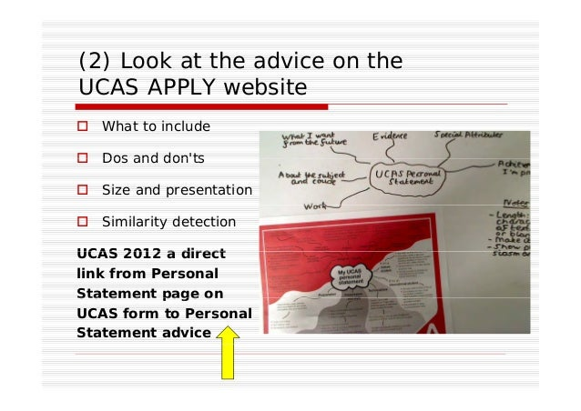 advice on writing a personal statement ucas
