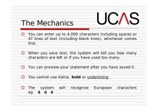 how many characters with spaces for ucas personal statement