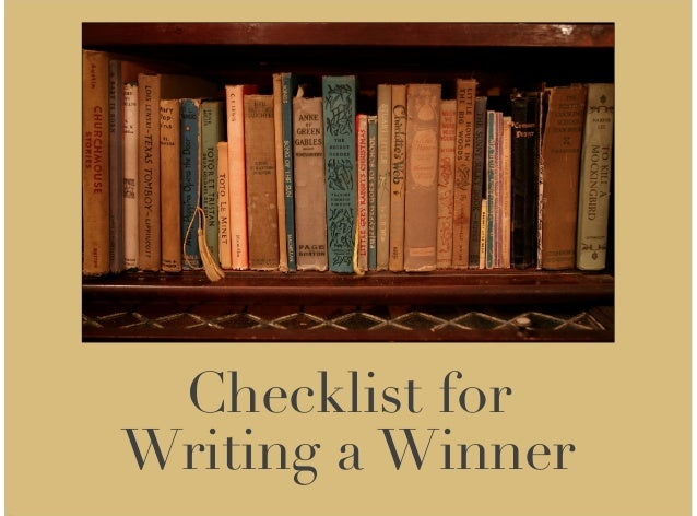 Checklist for Writing a Winner