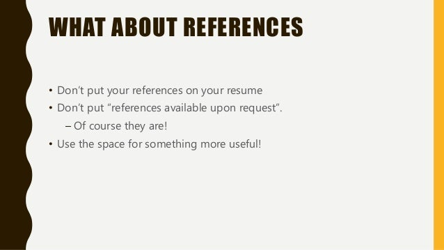 should you put references on your resumes - Kubre.euforic.co