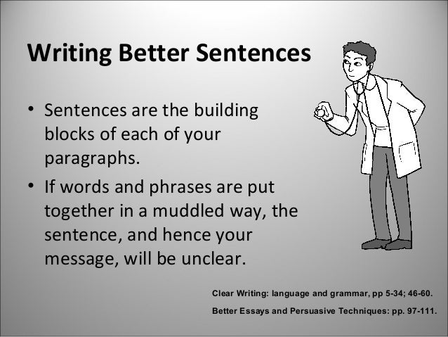 how to write better topic sentences