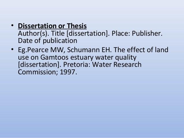 Dissertation editors in pretoria