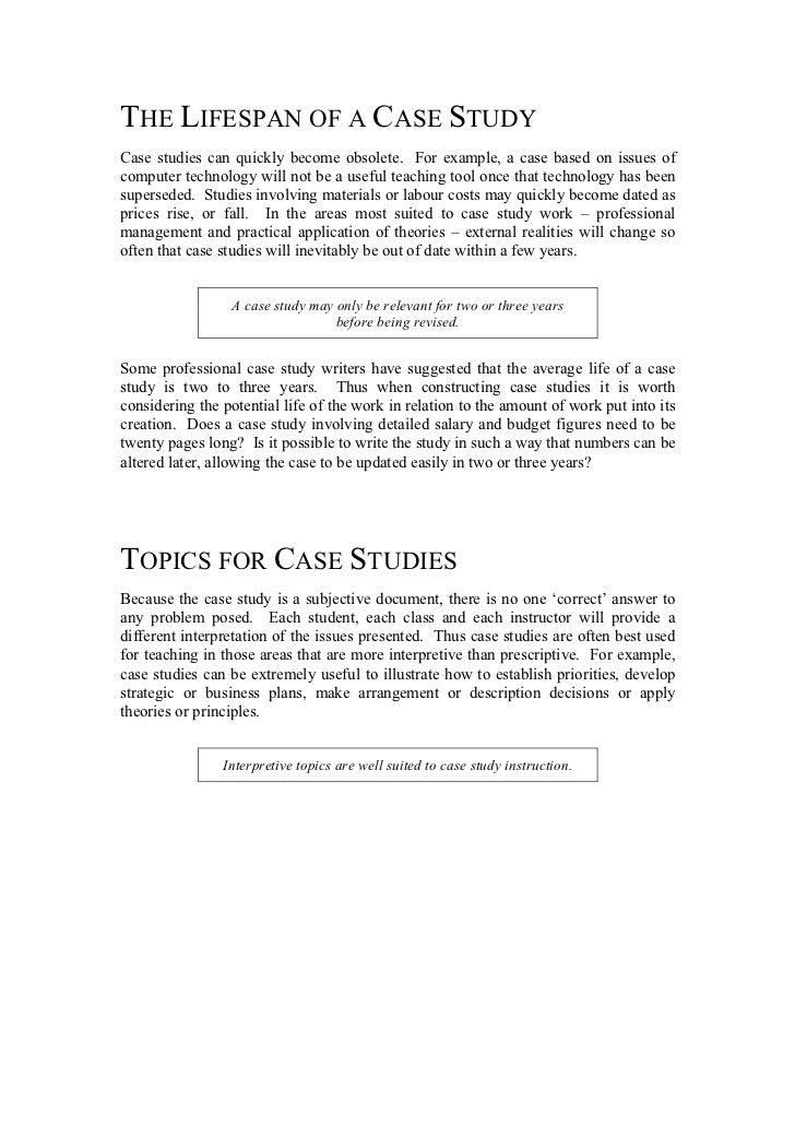 writing case studies a manual Philosophical discussion on the nature and benefits of case studies chapter 1  focuses on  the case and writing the instructor's manual chapter 9 addresses.