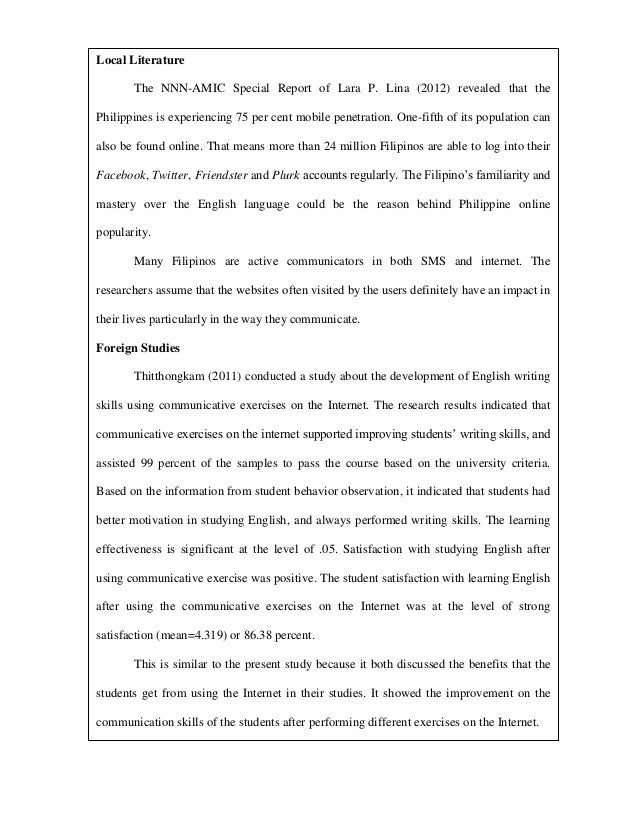 foreign literature studies thesis