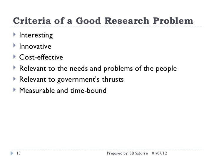 criteria for a good thesis Criteria for a problem formulation  google scholar is a good resource to use for this purpose try to find the most specific words for your topic and enter them into the search field  time is quite short to finish your thesis and if your thesis will be based on empirical research there can be a lot of different practical considerations.