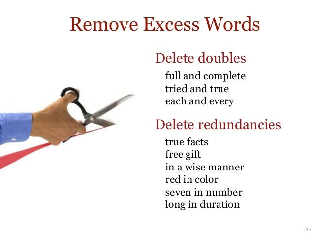 avoid wordiness by deleting needless words