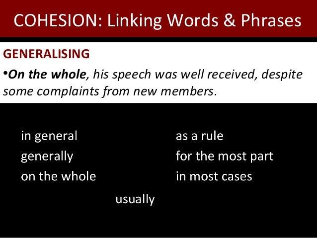 Essay writing linking words exercises