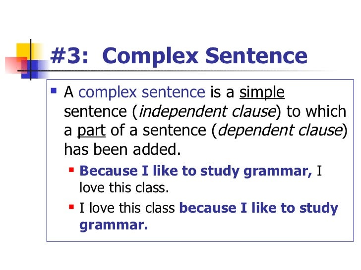 how to write a complex sentence A complex sentence is made of a simple sentence and a dependent, or subordinate, clause (has a subject and a verb but does not express a complete thought so, a compound complex sentence is made up of more than one sentence joined by a conjunction, and at least one of those sentence is complex.