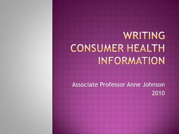 Associate Professor Anne Johnson