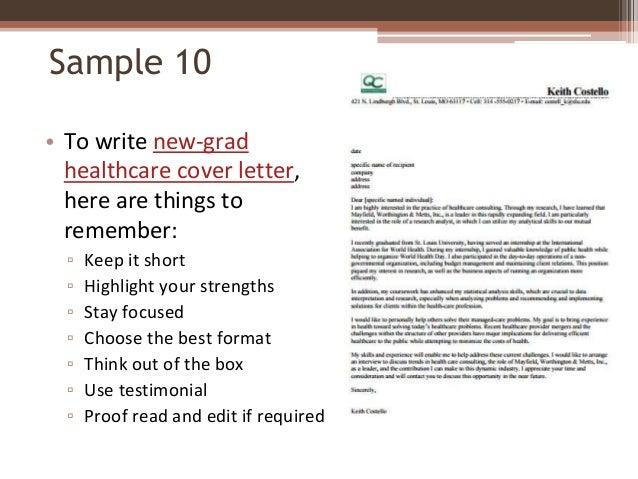 sample 10 to write new grad healthcare cover. phlebotomist cover ...
