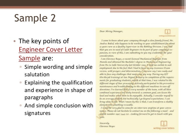 Sample ...  Writing A Cover Letter Examples
