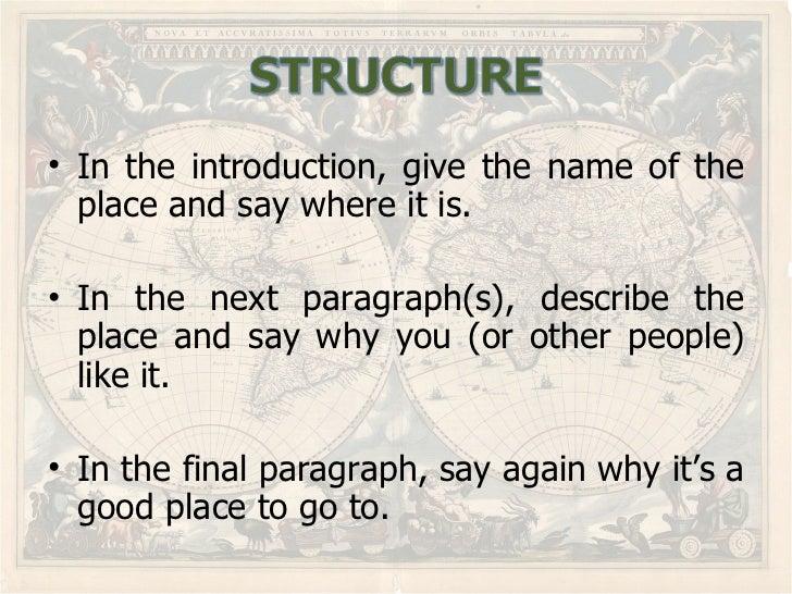 Sample of descriptive essay about a place