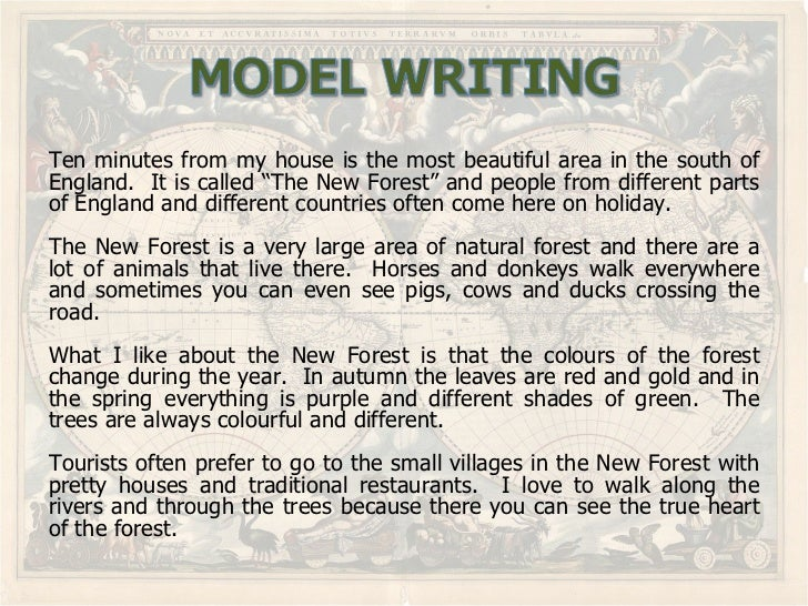 Writing Describing Places