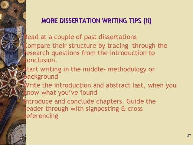 Writing a law dissertation