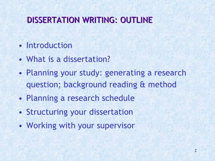 Writing a dissertation introduction