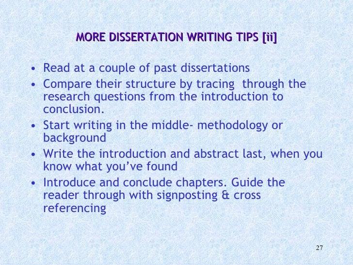 past dissertation