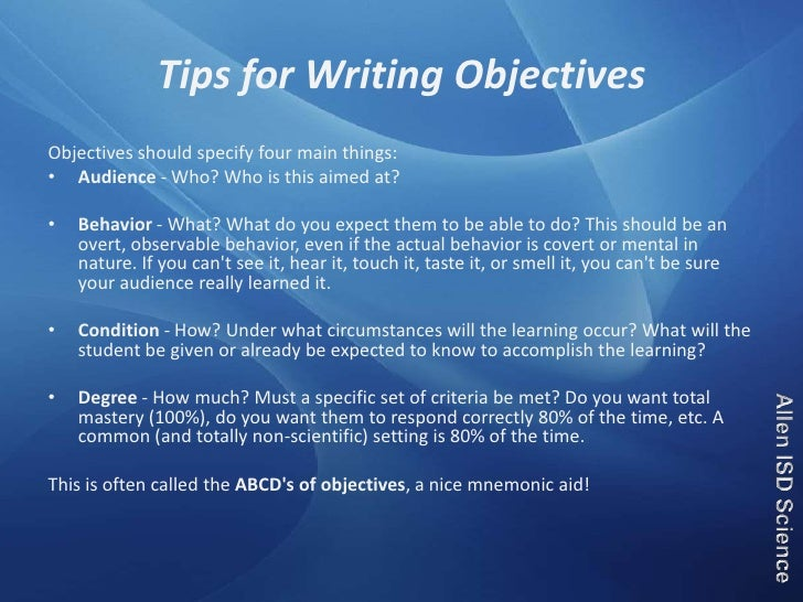 essay on educational goals and objectives The personal essay one of the most important parts of your scholarship  let the  scholarship committee or donor know your educational and career goals, why.
