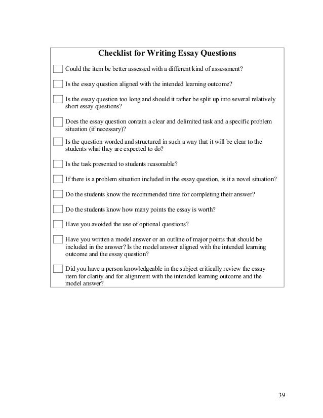 guidelines in constructing essay test