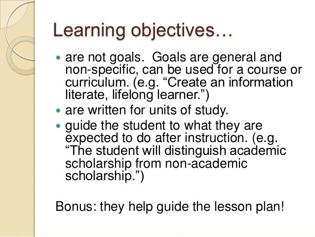 learning objectives of the student essay Lesson objective students will learn several strategies for organizing short,  persuasive essays, preferably after they have started pre-writing this lesson.