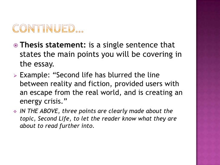 how to write the first sentence of an essay