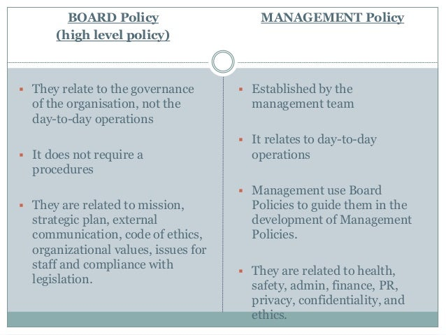 types of policies 13
