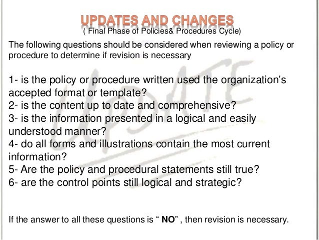Writing Effective  Policies & Procedures2