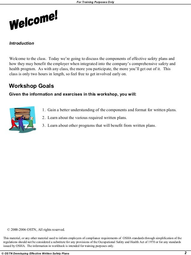 Writing Effective Safety Plan