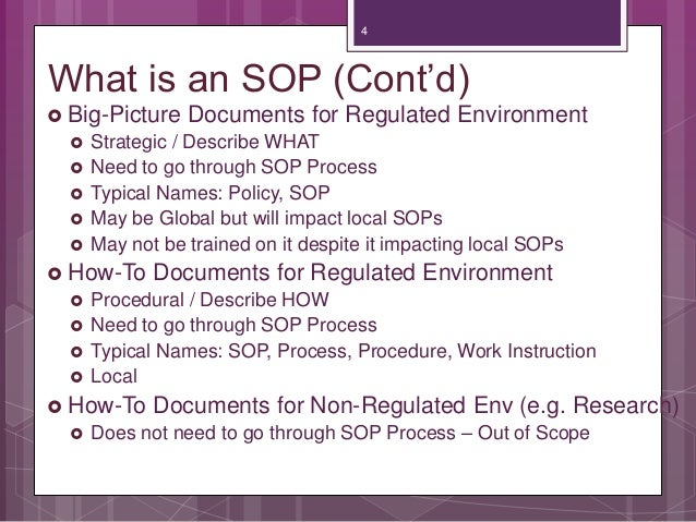 What Is An SOP ...