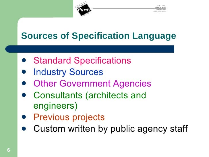 technical specification writing Understand technical writing skills necessary for specification development recognize the different types of specifications and when to use each type understand the importance of language use in specification writing.