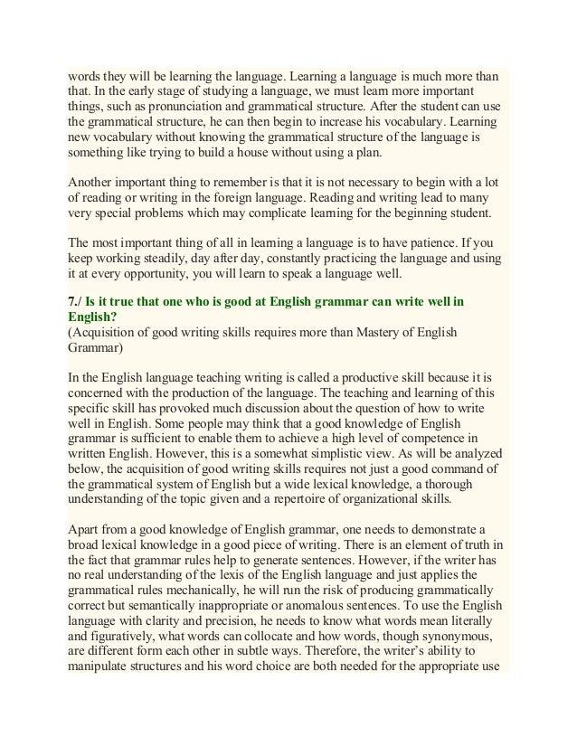 Importance of english essay