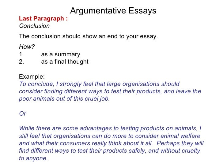 different ways to conclude an essay Structure your essay in the most effective way to communicate your ideas and   off the paragraph with a critical conclusion you have drawn from the evidence.