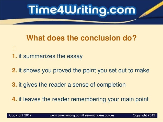 ways conclude essays Ever write an essay, but have no idea how to end it writing a conclusion does not need to be a stressful task this lesson outlines several methods for writing a conclusion for a narrative essay.