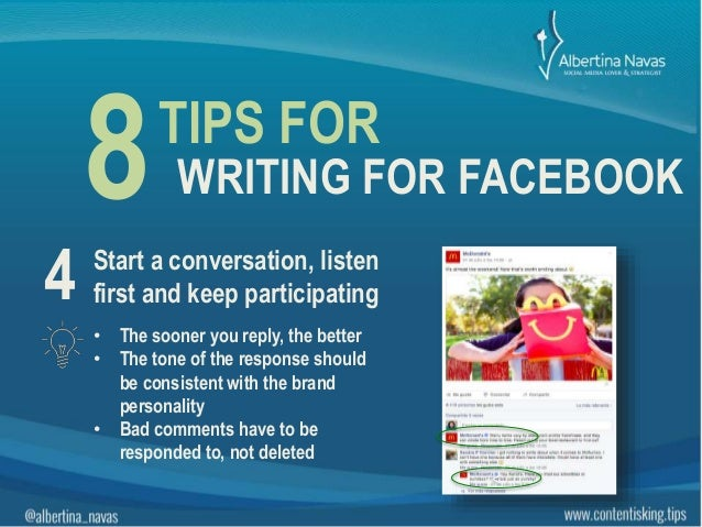 Writing for facebook