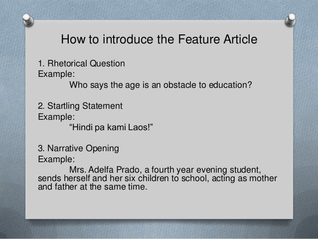 how to introduce an article